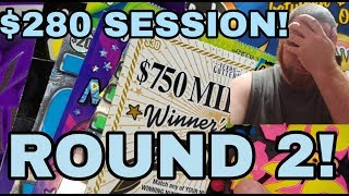 WINS! $280 SESSION! TEXAS LOTTERY SCRATCH OFF TICKETS