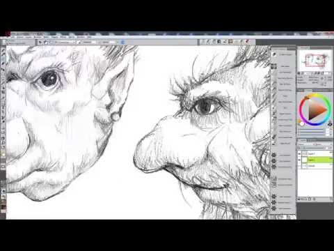 Corel Draw CS4 Colouring a pencil sketch with Corel Painter 12   YouTube