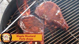 Maple-Mustard Glazed Pork Chops Recipe