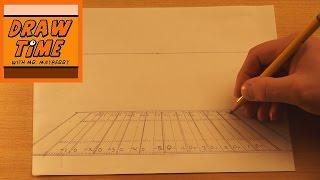 How to Use One-Point Perspective to Draw a Football Field