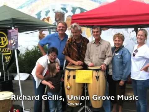 Jim Greiner Conducts Benefit Drum Circle At Union Grove Music For Children With Cancer