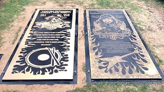 The grave of rock legends dimebag darrell and vinnie paul