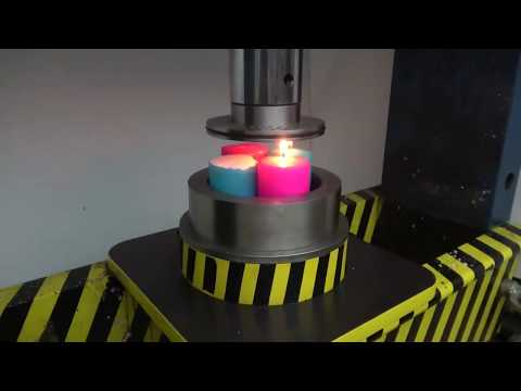 Pres RAHATLATICI VİDEO Hidrolik pres 100 TON ile küçük deliklerden mum presleme