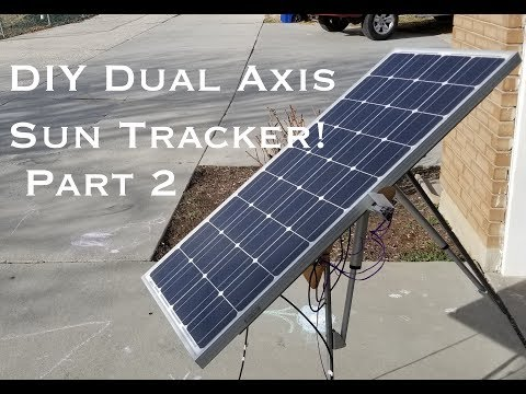 Dual Axis Sun Tracking Solar Panel Platform Part 2 of 2