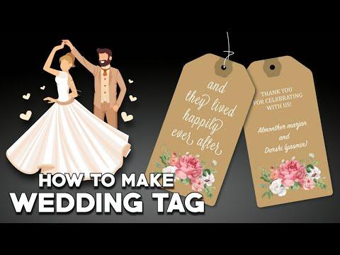 How To Make Wedding Tags Printable | Simple Gift Tags | #ntonline