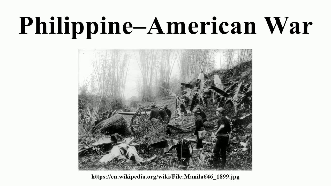 the philippine american war essay The philippines insurrection and the vietnam war are two notable philippines insurrection and the vietnam war history essay or the philippine - american war.