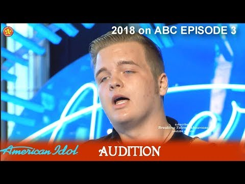 "Caleb Lee Hutchinson great Voice ""If It Haven't Been For Love"" Audition American Idol 2018 Episode 3"