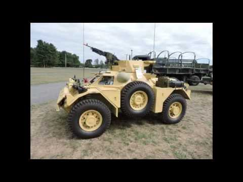 Restored ferret British armored car detail walk around video