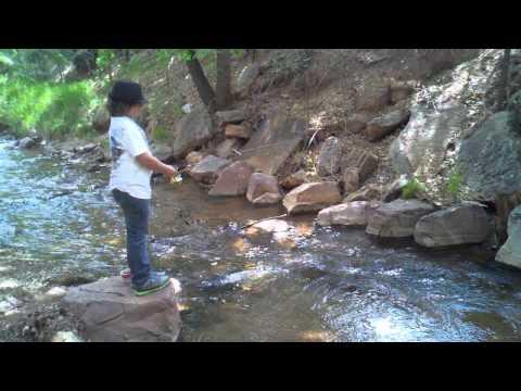 Small Creek Fishing in Colorado - Fountain Creek, Manitou Springs, Colorado