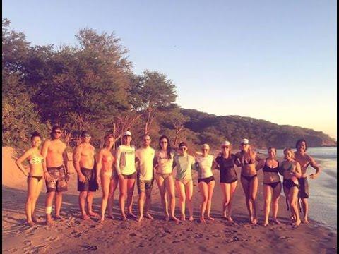 Beach Group Workout - Nicaragua