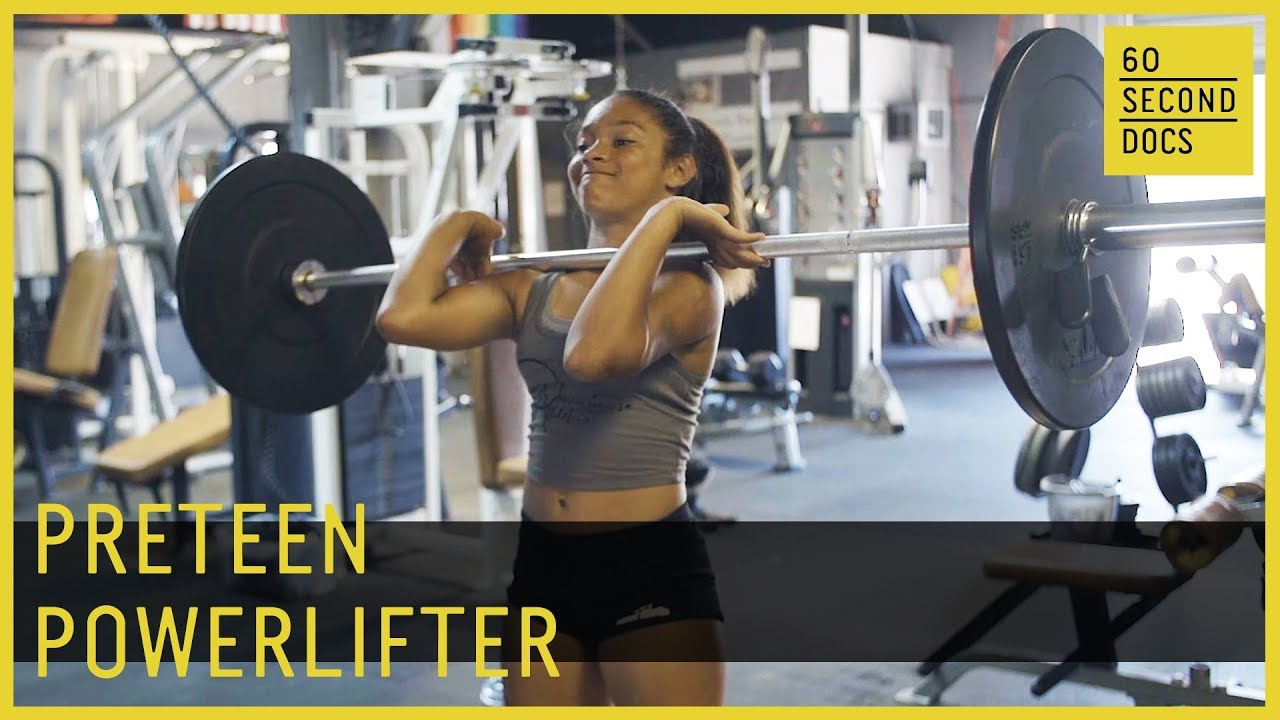 Preteen Powerlifter | Damiyah Smith // 60 Second Docs