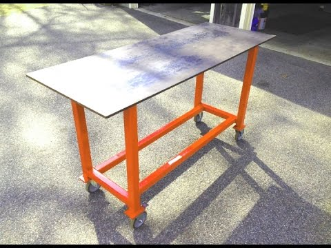 How to build a basic welding table from scrap