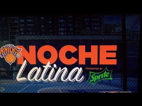 New York Knicks 2014 - 2015 Noche Latina Intro (vs. Indiana Pacers)