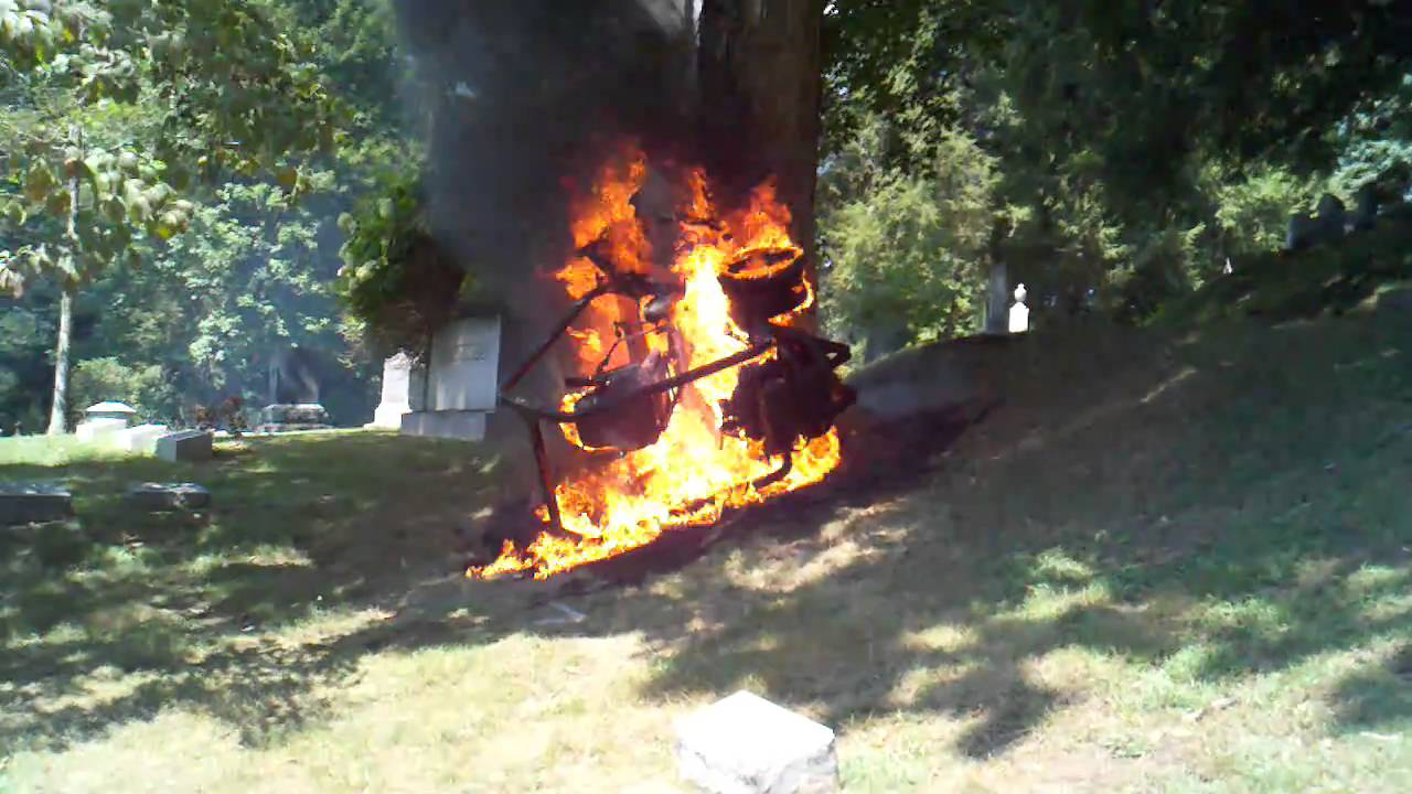 Hustler mower fire