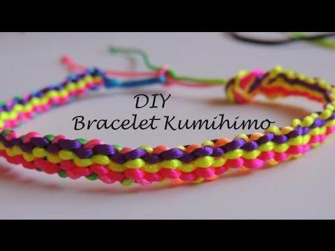 936e19b71a66 DIY Tutorial pulsera kumihimo cuadrado tres filas de colores.bracelet  kumihimo square
