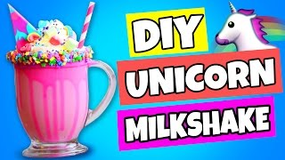 Milkshakes can be FUN!, Learn how to make this Easy DIY Unicorn Mil...