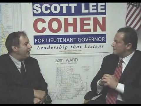 Scott Lee Cohen - Candidate for IL Lieutenant Governor  on TAPED WITH RABBI DOUG