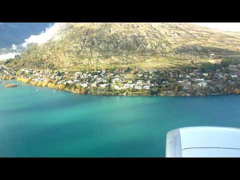 Landing at Queenstown Airport