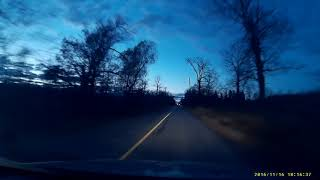 Night road in Canada