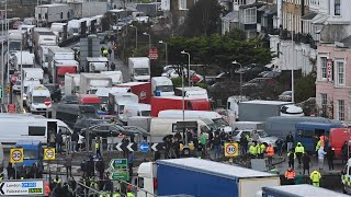 video: Ferries and trains will run through Christmas to clear lorry gridlock after French travel ban