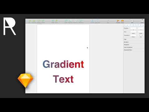 Creating Gradient Text Using Outlines | Sketch App Tutorial thumbnail