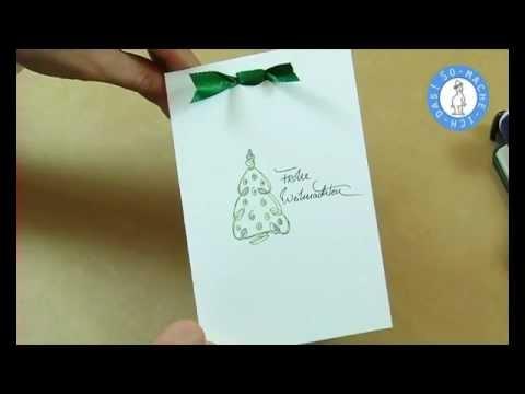 weihnachtskarten selber basteln youtube. Black Bedroom Furniture Sets. Home Design Ideas