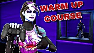 Fortnite Warm Up Course For Controller Players! Aim, Edits, Builds! (Creative Mode) - MissSirix
