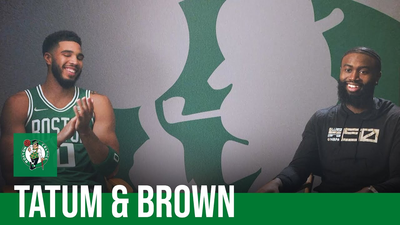 Download EXCLUSIVE INTERVIEW: Jayson Tatum and Jaylen Brown talk about their relationship | NBC Sports Boston
