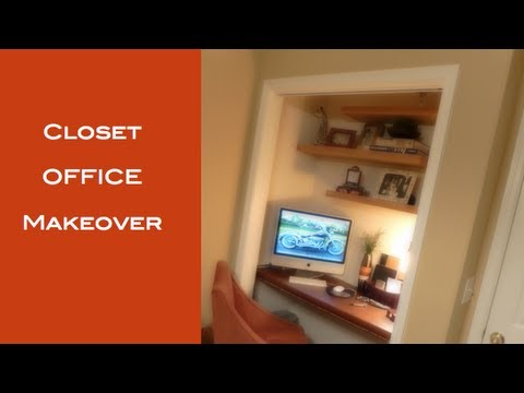 Diy How To Turn A Closet Into A Office Youtube