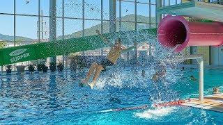 Pink Jump Slide at AquaMagis Plettenberg