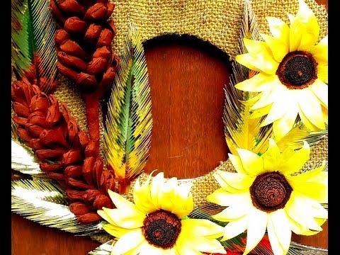 DIY How to make Beautiful Sunflower Wreath