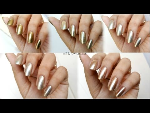 Nykaa Gold Rush Collection Nail Polish Review and Swatches