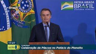 Bolsonaro participa de celebração da Páscoa no Palácio do Planalto