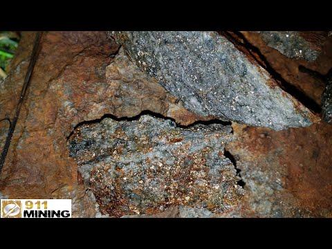 Free Gold & Silver Found In Mineralized Outcrops