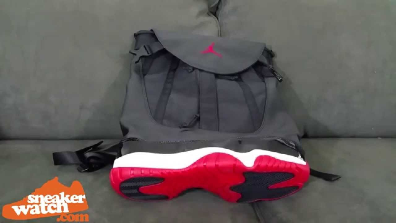 04e726adbd5 SneakerWatch Gives Exclusive Look at the 'Bred' 11 Backpack