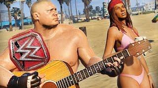 BROCK LESNAR WANTS HOT CHICKS! - WWE GTA 5