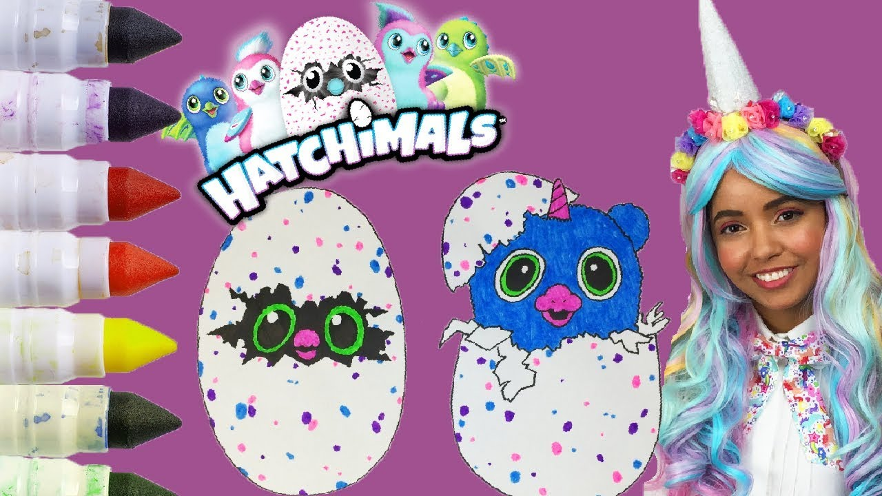 How To Draw And Color Hatchimals Coloring Pages For Kids Coloring