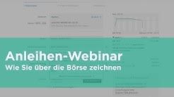 Webinar: Anleihen über die Börse zeichnen