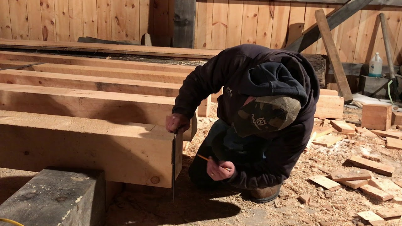A Timber Frame Vlog #124:Traditional Woodworking Using Hand Tools ...