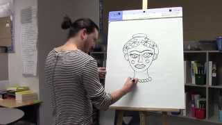 How to draw Frida Kahlo for kids with Ramon Carrasco