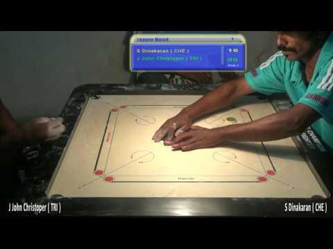 S Dinakaran Vs J John Christopar Set 1 India Cements 58th Tamilnadu State Carrom Championship 2017