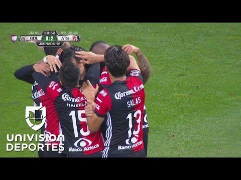 ¡GOL! Milton Caraglio de penal   Chivas 0-2 Atlas