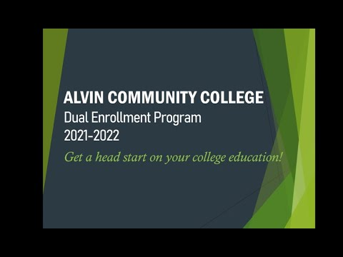 Alvin Community College Dual Enrollment