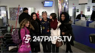 (Exclusive) Fifth Harmony takes Pictures with Fans at LaGuardia Airport in NYC 12-09-14