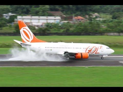 Pouso e Decolagem em joinville - Boeing 737-700 GOL - (PR-GOR) 28/04/2019