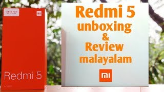 Redmi 5 unboxing & review in Malayalam | eldhose tech