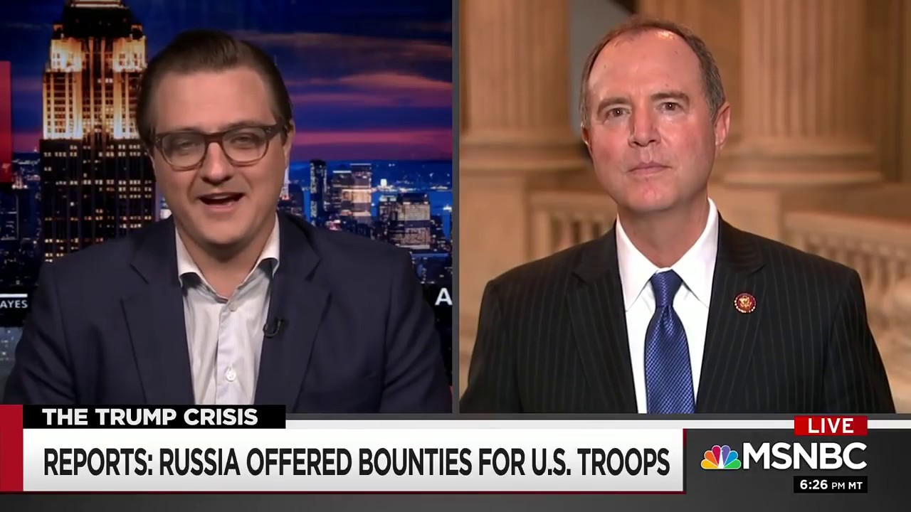 Rep. Schiff on MSNBC: Congress will Get to the Bottom of Russia Bounty Allegations