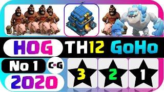 TH12 ATTACK STRATEGY 2020!! GoHo Golem & Hog TH12 3 STAR | Clash of Clans (COC)