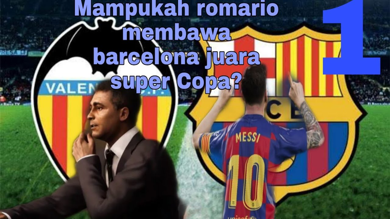"Pes 2020 master league ""final piala super Copa barcelona ..."