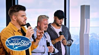 "Gruppe 11: Kevin, Ricardo & Manolito mit ""You are the Reason"" von Callum Scott 